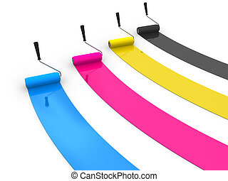 CMYK painting