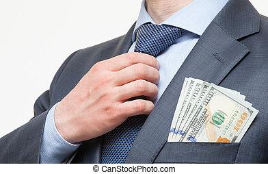 Rich businessman in a suit