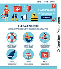 Life Guard One Page Website Design - Beach lifeguards...