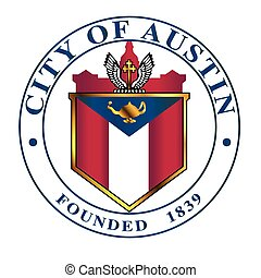 City Of Austin Seal - The seal of the Texan city of Austin...