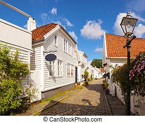 Norwegian white houses