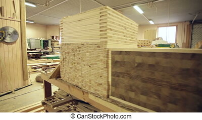 industrial wood workshop timber board