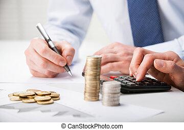 účetní, prospěch, chladnokrevný
