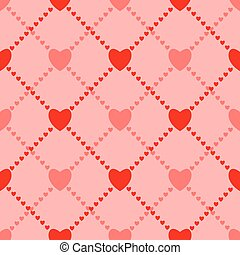 Seamless love background with hearts. Vector illustration