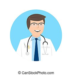 Smart doctor character design Doctor icon and healthcare...