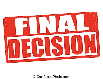 Final decision stamp