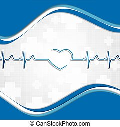 Abstract medical blue colors background