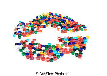platic caps as recycle symbol - plastic caps as recycle...