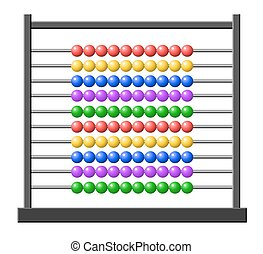 Abacus - Vector illustration of an abacus with colorful...