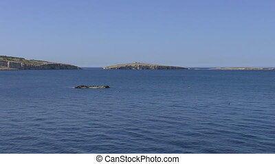 St Pauls islands in the sea - Small islands of St Paul's in...