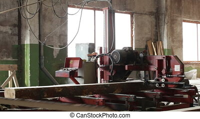 saw processing log production machine