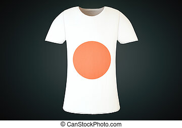T-shirt Japanese flag front - T-shirt with a Japanese flag...