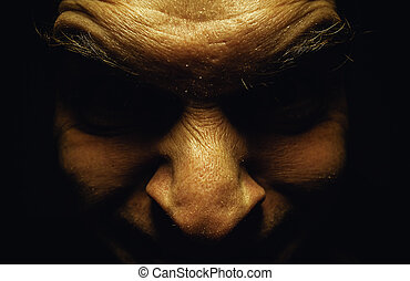 Ugly Male Face - Facial expression of an ugly male face,...