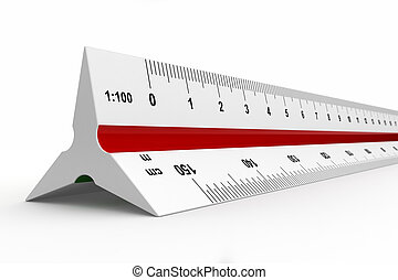 Reduction scale ruler - 3d render of reduction scale ruler...