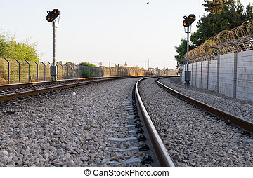 Photo of railway tracks. - Beautiful photo of railway tracks...