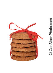 isolated ginger snap cookies