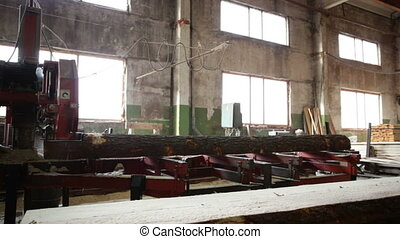 saw processing wood - saw processing log production machine