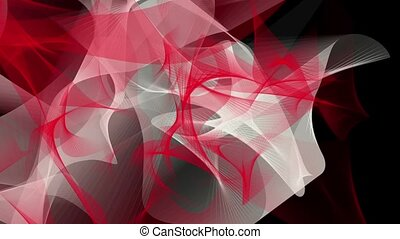 Abstract background in red and white on black
