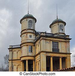 La Bizzarria building in Venaria - Ruins of La Bizzarria...