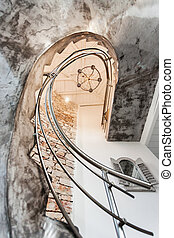 different view of stairs