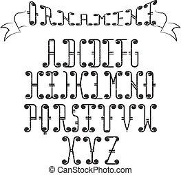 Grunge Swirly Alphabet