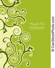 abstratos, fundo, floral, elementos