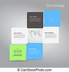 Vector abstract cubes infographic network template