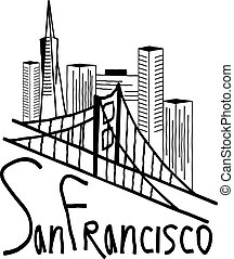 san francisco skyline illustration