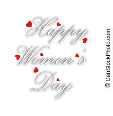 Greeting card for womens day