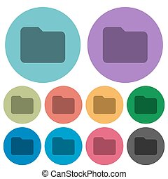 Color folder flat icons