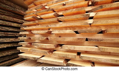 production of wood boards plant