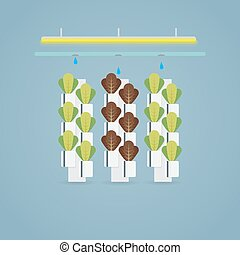 Hydroponic farm illustration - Hydroponic multistory farm....
