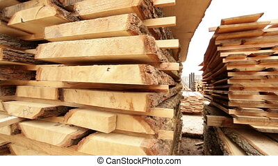 sawn timber boards