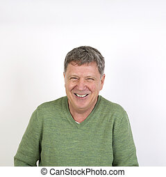 friendly happy laughing mature man