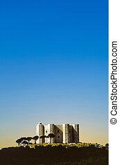 Castel Del Monte in Italy under blue sky