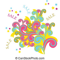 Background with sale element