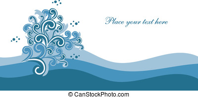 Abstract background with waves Easy to edit vector image