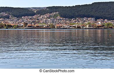 Lake of Ioannina city at Greece