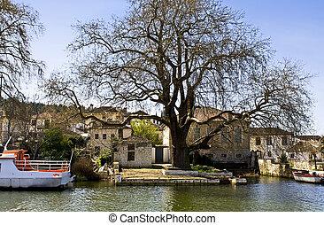 Island of Ali Pasa at Ioannina city at Greece