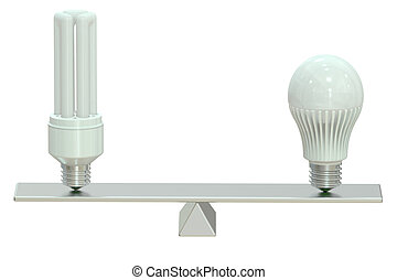 LED (Light Emitting Diode) or saving lamp concept