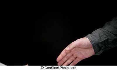 Business Greeting Handshake 4 - Business greeting, man and...