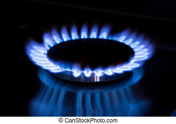 stove gas at the kitchen