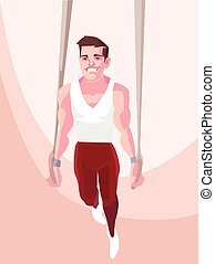 Gymnast Vector flat cartoon illustration