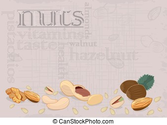 Vector-Nuts background