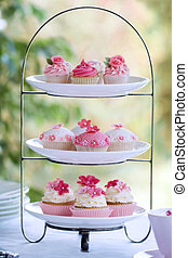 Afternoon tea - Cakestand with an assortment of cupcakes