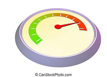 Multi purpose gauge needle on red
