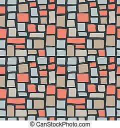 Abstract Cobble Bricks Seamless Pattern Texture