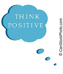 think positive speech bubble