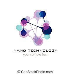 Nano logo - nanotechnology. Template design of logo. Vector...