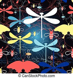Graphic pattern different insects - Beautiful graphic...